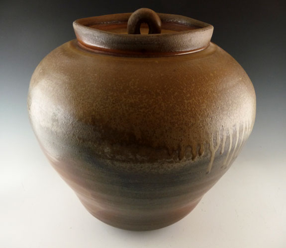 John Benn- Wood Fired Lidded Jar