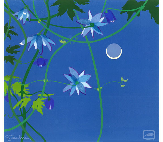 """Evening Clematis"" Serigraph by Sherry Buckner"