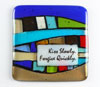 "Link to ""Kiss Slowly"" Fused glass quote tile by Nina Cambron"