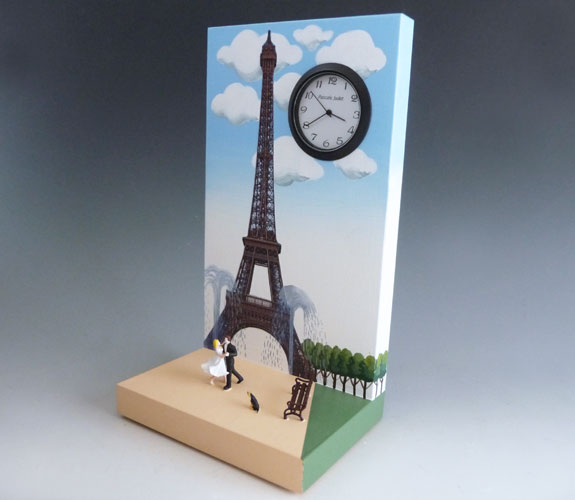 Eiffel Tower Clock by Pascale Judet