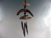 Obisidian Windchimes Driftwood and Stone and Seed Beads