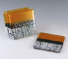 Link to set of 4 gold fused glass coasters by Chris Paulson
