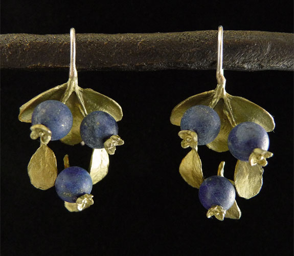 Blueberry Earrings by Silver Seasons
