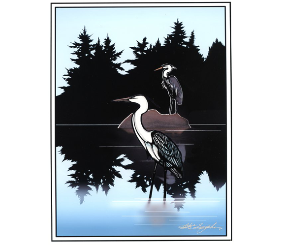 """Reflection"" print by Aki Sogabe"